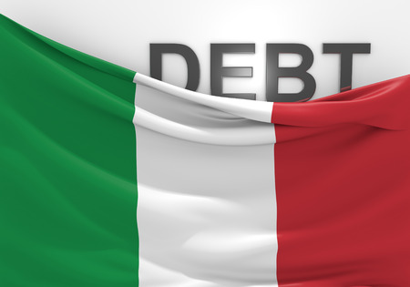 budget crisis: Italy national debt and budget deficit financial crisis