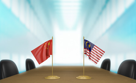 talks: China and Malaysia relations and trade deal talks 3D rendering