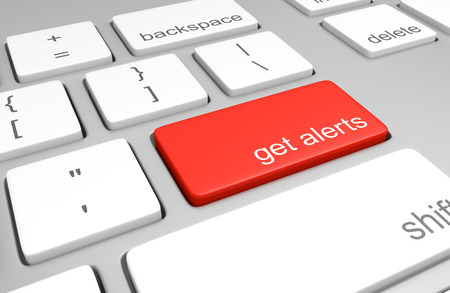 Get alerts key on a computer keyboard Stock fotó - 42939577