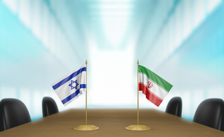 talks: Israel and Iran relations and deal talks 3D rendering