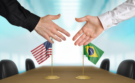 diplomats: United States and Brazil diplomats agreeing on a deal