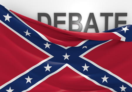 rebel flag: Debate over display of the southern rebel Confederate National Flag