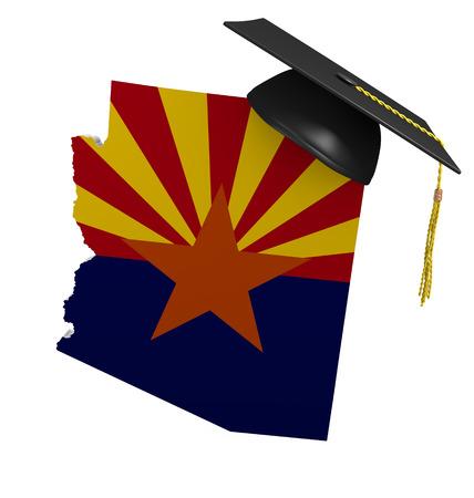 map: Arizona state college and university education