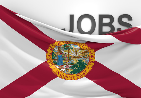 Florida jobs and employment opportunities concept Imagens
