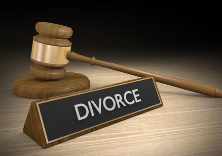 Echtscheiding en echtelijke scheiding familierecht begrip Stockfoto