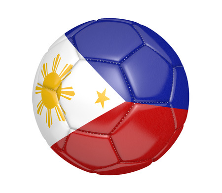 kickball: Football, also called a soccer ball, with the national flag colors of the Philippines
