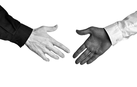 race relations: Business concept of racial diversity and equal opportunity in the workplace Stock Photo