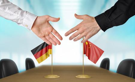 naciones unidas: Alemania y China diplomáticos pongan de acuerdo sobre un acuerdo Foto de archivo