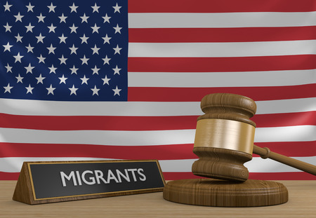 migrant: United States and the Syrian migrant crisis in Europe Stock Photo