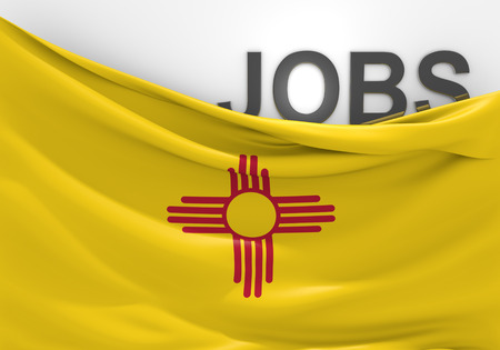 unemployment rate: New Mexico jobs and employment opportunities concept