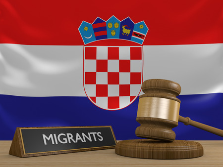 migrant: Croatia and the Syrian migrant crisis in Europe