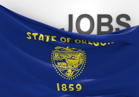 state of oregon: Oregon jobs and employment opportunities concept Stock Photo