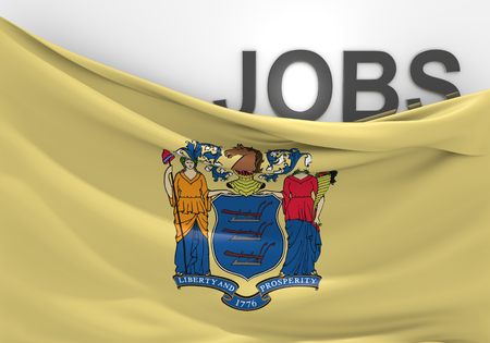 unemployment rate: New Jersey jobs and employment opportunities concept