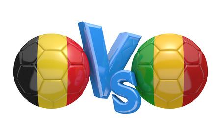 kickball: Soccer versus match between national teams Belgium and Mali