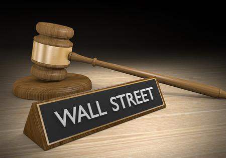 greedy: Regulation of Wall Street corruption and greedy big banks Stock Photo