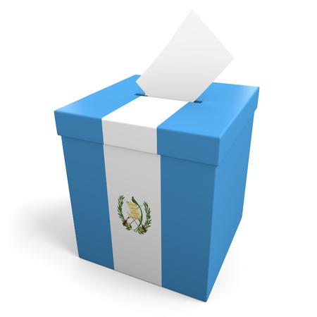 guatemala: Guatemala election ballot box for collecting votes Stock Photo