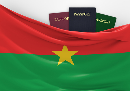 custom: Travel and tourism in Burkina Faso, with assorted passports
