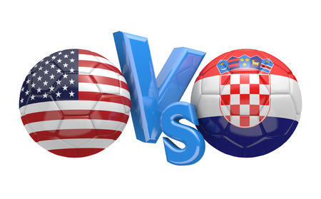 kickball: Soccer versus match between national teams United States and Croatia