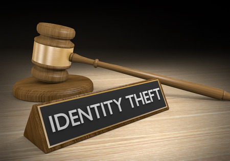 Identity theft protection and legal justice 版權商用圖片