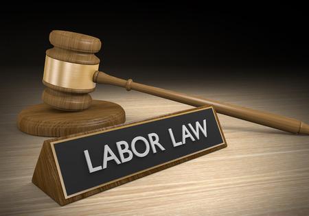 ley: Las leyes laborales para los beneficios de los trabajadores y el empleo justo Foto de archivo