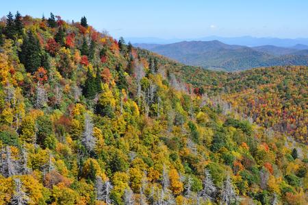 appalachian: Autumn landscape in the Blue Ridge Mountains section of the Appalachian range Stock Photo