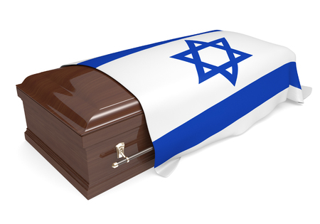 israel war: Coffin covered with the national flag of Israel