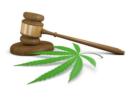 marihuana: Leyes de consumo de drogas de marihuana y la legalizaci�n Foto de archivo