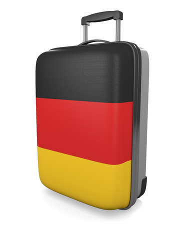 vacation destination: Germany vacation destination concept of a flag painted travel suitcase