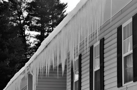 ice storm: Freezing ice hazard from extreme winter storm conditions
