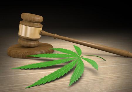Federale en staatswetten reguleren wettelijke medische marihuana drugsgebruik Stockfoto