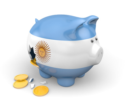 finance problems: Argentina economy and finance concept for poverty and national debt