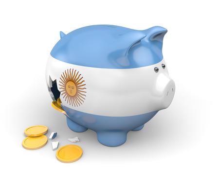 Argentinien Wirtschaft und Finanzen Konzept für die Armut und die Staatsverschuldung Standard-Bild