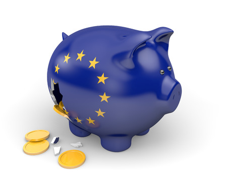 EU: European Union economy and finance concept for poverty and debt Stock Photo