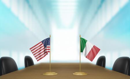 conversa: United States and Italy relations and trade deal talks 3D rendering