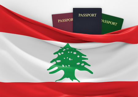 lebanon: Travel and tourism in Lebanon, with assorted passports