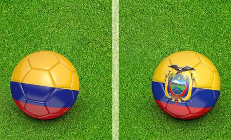 preliminary: Qualifier preliminary football match between country teams Colombia and Ecuador