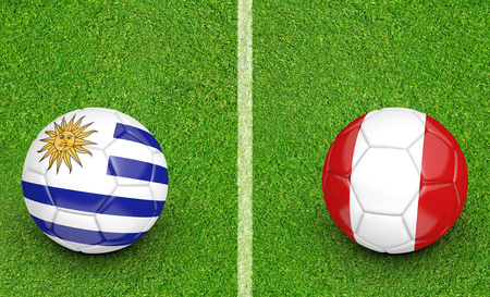 preliminary: Qualifier preliminary football match between country teams Uruguay and Peru