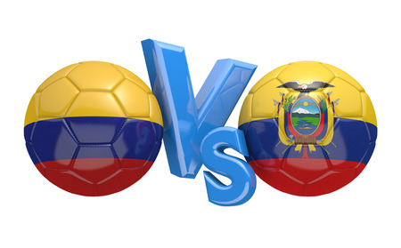 preliminary: Preliminary competition football match between national teams Colombia and Ecuador
