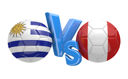 preliminary: Preliminary competition football match between national teams Uruguay and Peru