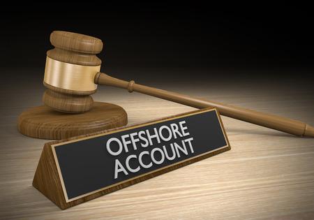 hidden taxes: Offshore financial accounts and money laundering schemes, 3D rendering