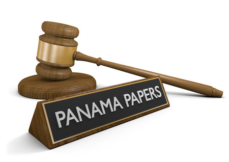 law of panama: Panama Papers documents leak of offshore company accounts, 3D rendering Stock Photo