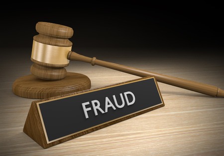 Laws against fraud, cons, and other criminal scams, 3D rendering Stock Photo