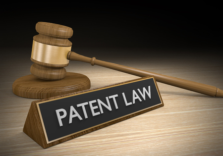 government regulations: Laws for protecting patents and intellectual property, 3D rendering Stock Photo