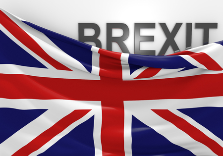 electing: United Kingdom Brexit vote and EU referendum, 3D rendering Stock Photo