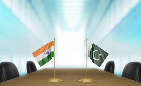 conversaciones: India y Pakist�n, las relaciones y conversaciones acuerdo comercial, 3D