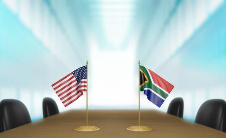 conversaciones: Estados Unidos y Sud�frica relaciones y conversaciones acuerdo comercial, representaci�n 3D