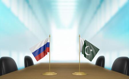 conversaciones: Rusia y Pakistán las relaciones y conversaciones acuerdo comercial, 3D