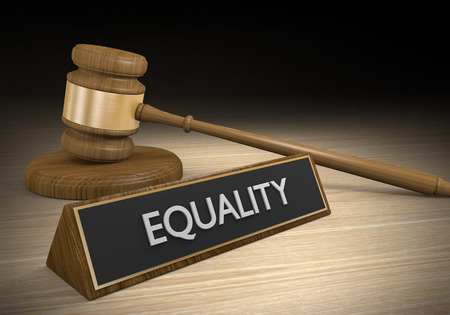 racial: Laws for improving social and racial equality, 3D rendering