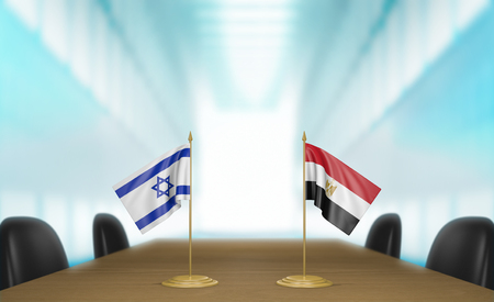 conversa: Israel and Egypt relations and trade deal talks, 3D rendering