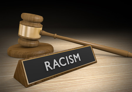 illegal act: Laws against racism and discrimination, or other forms of prejudice, 3D rendering
